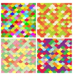 Scale color paper backgrounds set vector