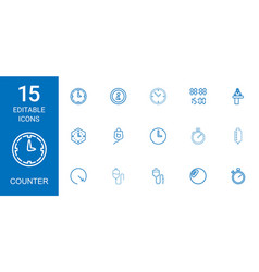 15 counter icons vector