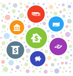 7 banking icons vector