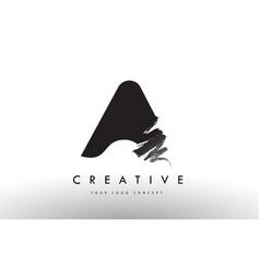 A brushed letter logo black brush letters design vector