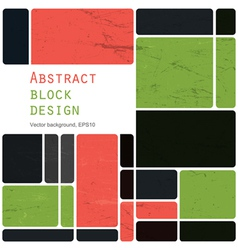 abstract block design background vector image