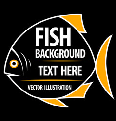 big fish background for text vector image vector image