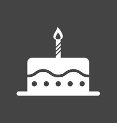 birthday cake flat icon fresh pie muffin on black vector image