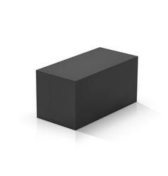 Black rectangular prism vector