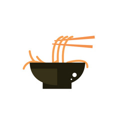 bowl food spaghetti culture traditional japan icon vector image