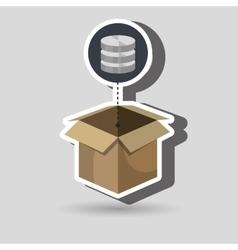box data base hardware vector image
