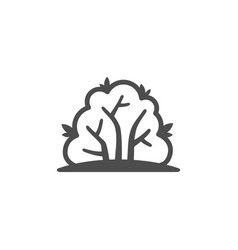 bush outline icon nature simple vector image