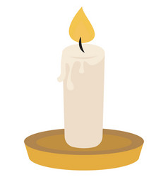 candle on white background vector image