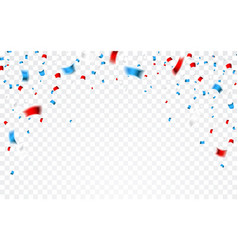 celebration confetti in national colors usa vector image