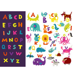Children alphabet bright set vector
