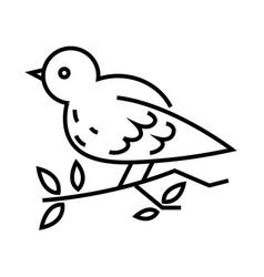 Christmas bird line icon concept sign outline vector