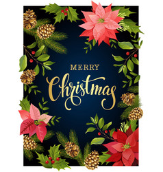 christmas design composition frame of red vector image vector image