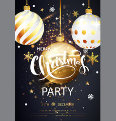christmas party card over gray background with vector image