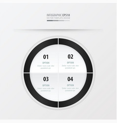 Circle presentation template black and white vector