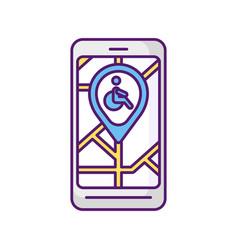 City navigation app rgb color icon vector