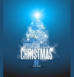 Corporate Christmas card vector