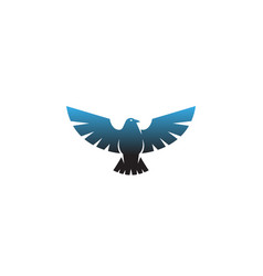 creative blue geometric sharp eagle logo vector image