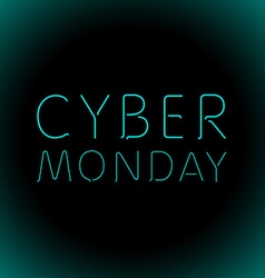 cyber monday sale background of embossed letters vector image