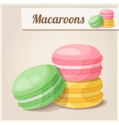 Detailed Icon Macaroons vector