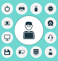 Digital icons set collection of desktop web vector