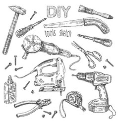 Diy tools set vector
