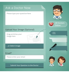 Doctors Online Consultation Form vector