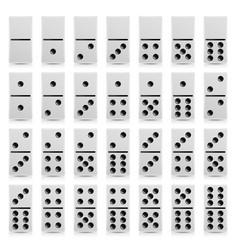 Domino set realistic white vector