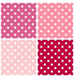 Dotted retro pattern collection for Valentines vector image