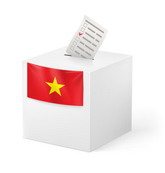 Election in vietnam ballot box with ticked vector