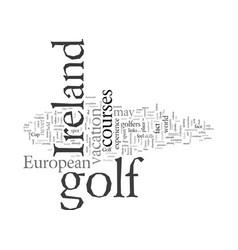 European golf vacations ireland vector