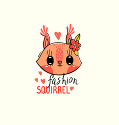 Fashion kawaii animal a vector
