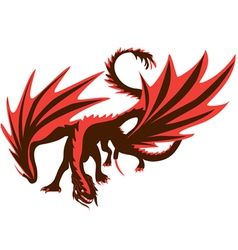 Fiery dragon red dragon vector