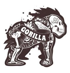 Floral Gorilla vector image