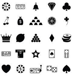 gamble icon set vector image
