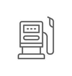 gas and oil station fuel pump gasoline line icon vector image