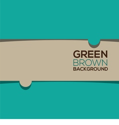 Green Brown Graphic Background vector image