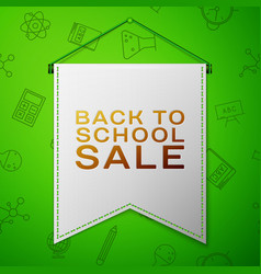 Grey pennant with inscription back to school sale vector