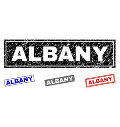 grunge albany scratched rectangle watermarks vector image