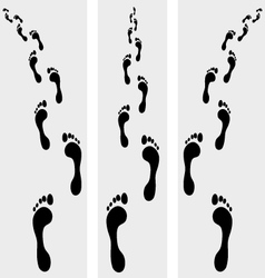 human bare footsteps vector image