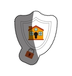 Isolated padlock and house design vector