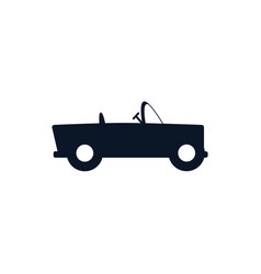 Isolated roadster car vehicle silhouette style vector