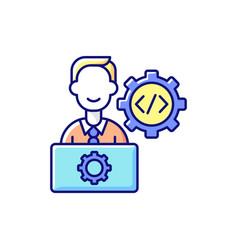 It department rgb color icon vector
