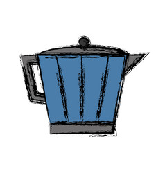 Italian coffee maker icon vector