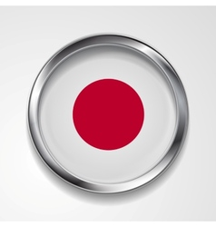 Japanese metal button flag vector image