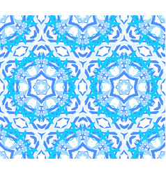 Kaleidoscopic bright blue flower ornament vector