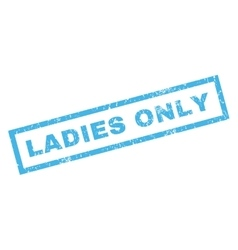 Ladies only rubber stamp vector
