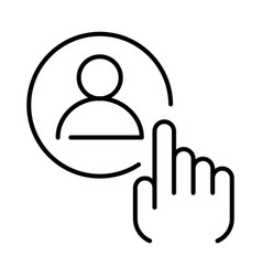 Linear simple employee selection icon vector