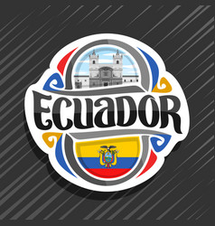 logo for ecuador vector image