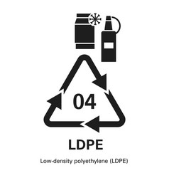 Low density polyethylene icon simple style vector