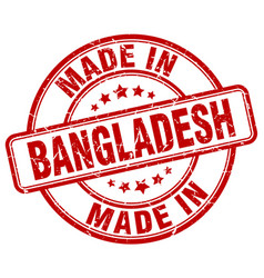 Made in bangladesh red grunge round stamp vector